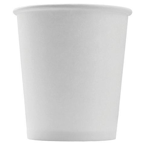 Одноразовые стаканы бумажные однослойные белые 100 мл 60шт