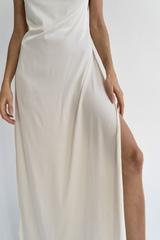 Платье длинное молочное Lilit