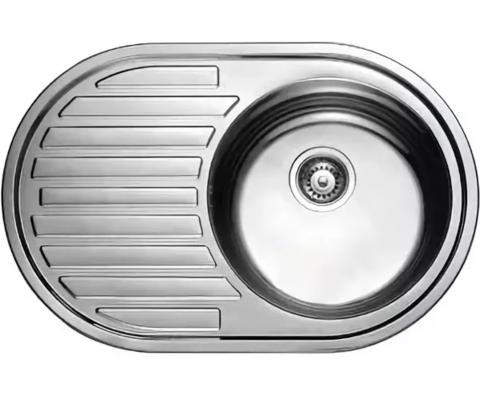 Кухонная мойка врезная из нержавеющей стали Kaiser KSS-7750 R(правая)