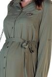 Платье для беременных 09832 хаки