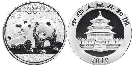 Жетон Китайская панда. Китай. 2010 год. PROOF