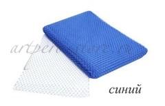 Вуаль шляпная Экстра, ширина 22 см., синий