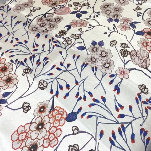шелковая органза с цветами фото