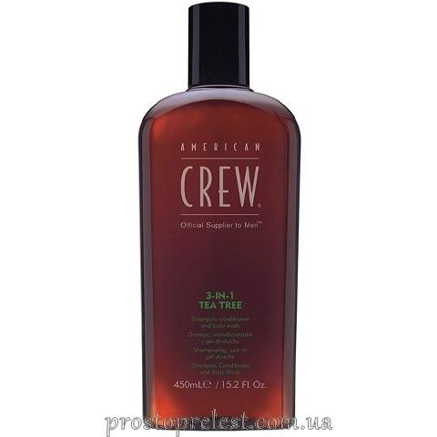 American Crew Tea Tree 3 In 1 - Средство по уходу за волосами и телом