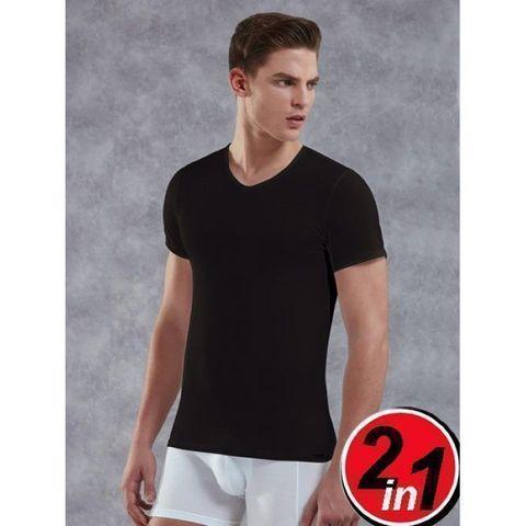 Мужская футболка черная комплект 2 шт. Doreanse 2800