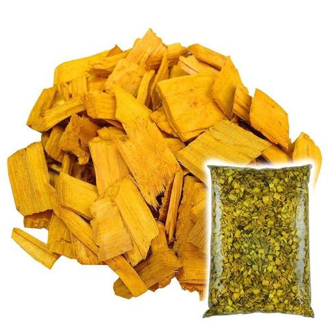 Декоративная щепа Желтая 60л