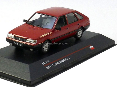 FSO Polonez Caro red 1991 IST116 IST Models 1:43