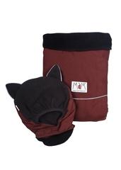 Двухстронняя водоотталкивающая накидка для слингоношения МаМ Deluxe Cover, Бордовый/черный