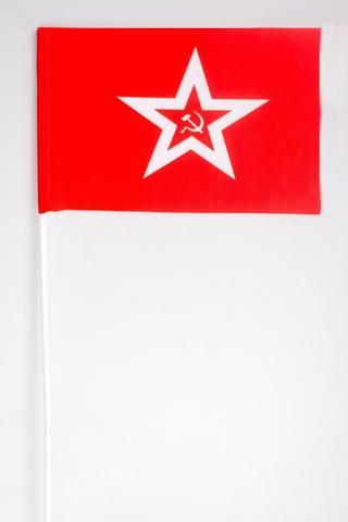 Купить флажок Гюйс ВМФ СССР - Магазин тельняшек.ру 8-800-700-93-18Флажок на палочке Гюйс ВМФ СССР 15х23 см в Магазине тельняшек