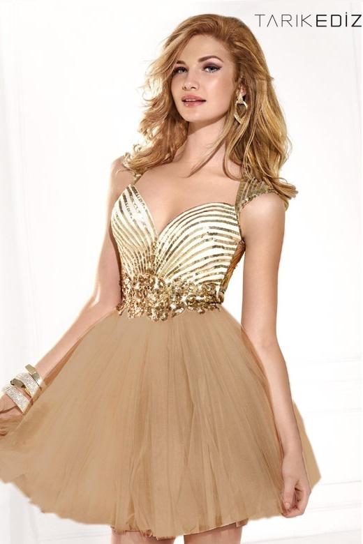 Tarik Ediz 90376 Платье с расшитым пайетками лифом, пышной юбкой