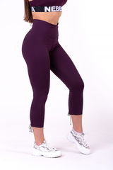 Женские лосины Nebbia lace-up 7/8 leggings 661 burgundy