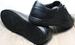 Низкие черные кеды с черной подошвой мужские осенние Novelty 5235 Black