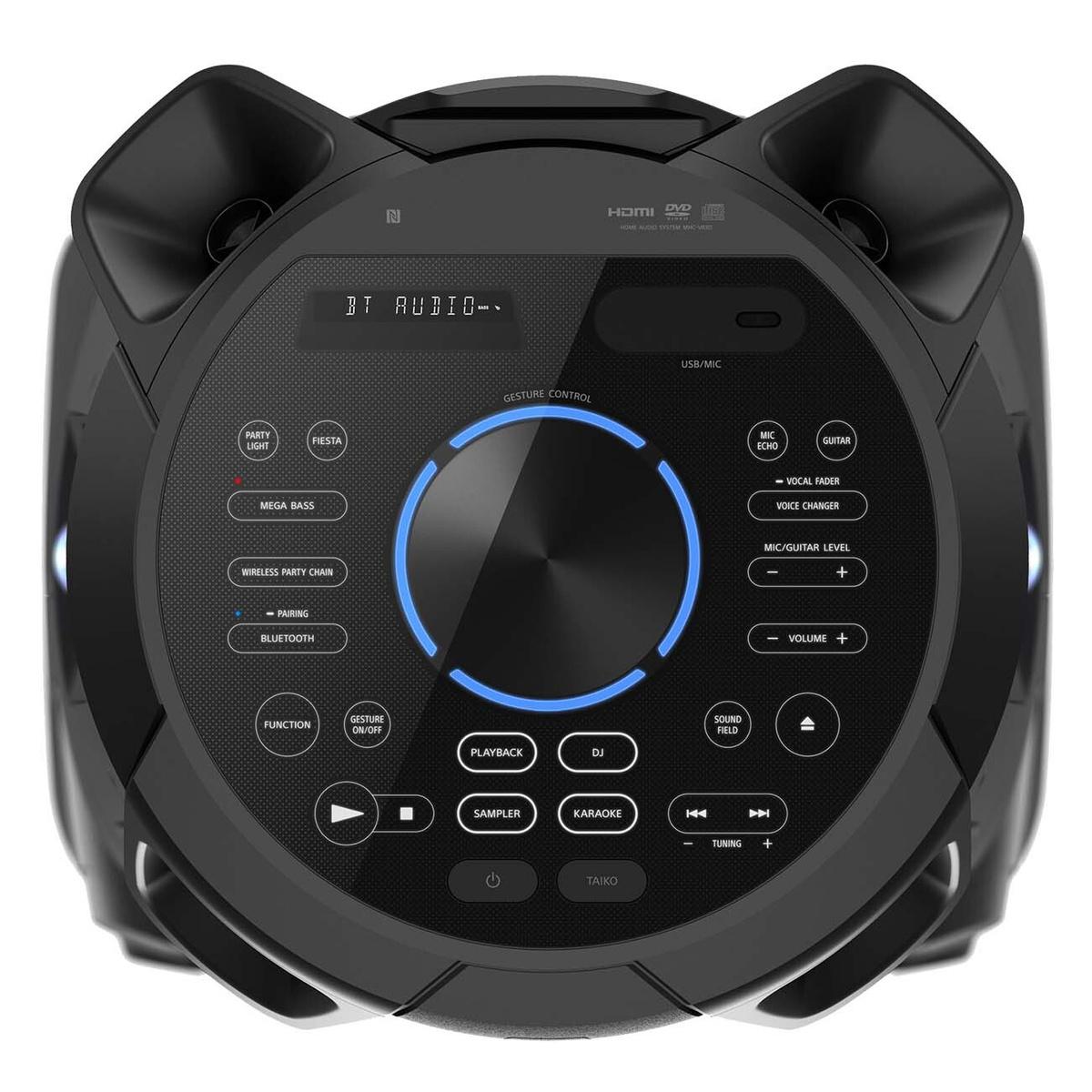 Панель управления аудиосистемой Sony MHC-V83D