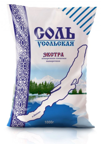 """Соль """"Усольская"""" экстра 1кг"""