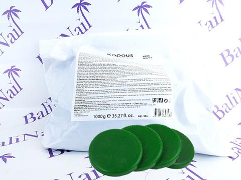 Горячий воск зеленый с Хлорофиллом в дисках, 1000 гр
