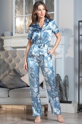 Комплект брючный 2 предмета Mia-Amore PARIS PIONS ПАРИЖ ПИОН 8994 голубой