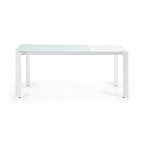 Стол обеденный Atta 120(180)x80 белое стекло