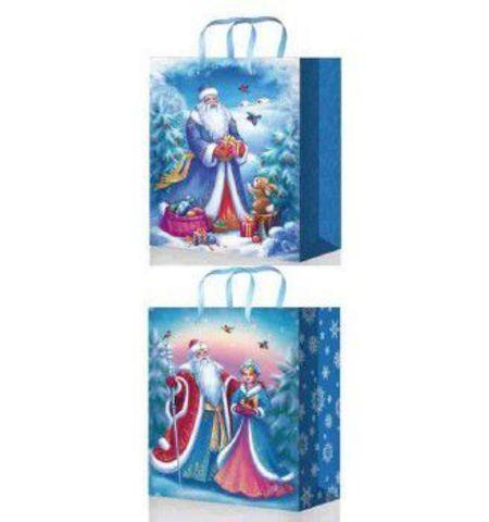 Пакеты новогодние 41х56х24 из ламинированной бумаги