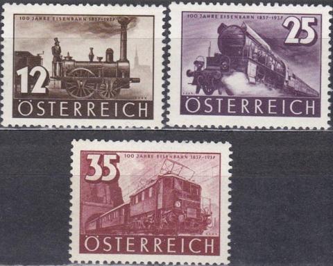 1937 646-8 **MNH