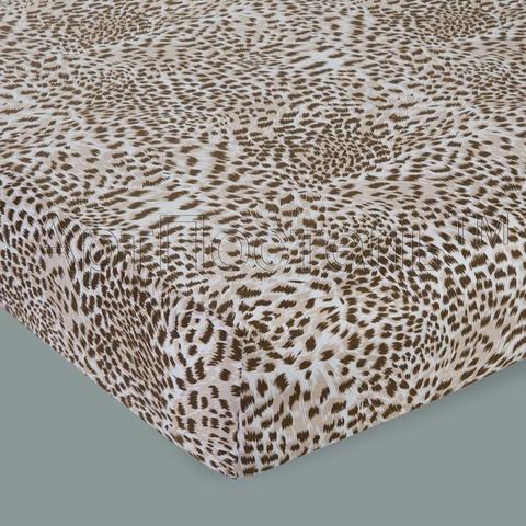 Простынь на резинке Леопард