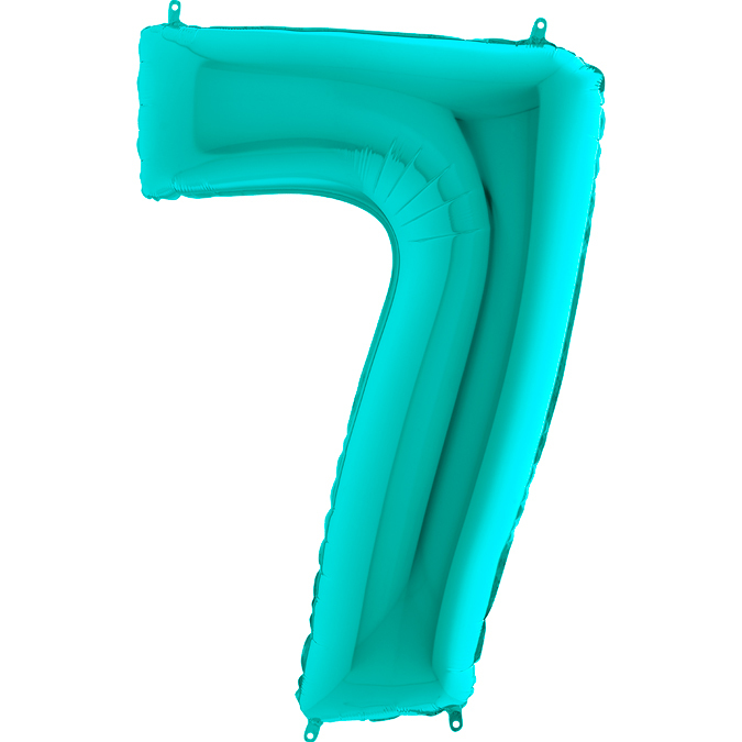 Цифра бирюзовая Тиффани 7