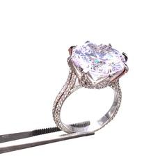 98561 - Кольцо из серебра с крупным цирконом