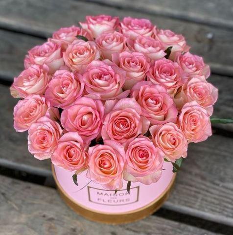 Коробка розовые 25