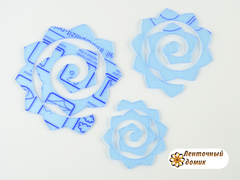 Комплект шаблонов № 501 цветы по спирали