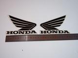 Наклейки на бак Honda чёрные крылья