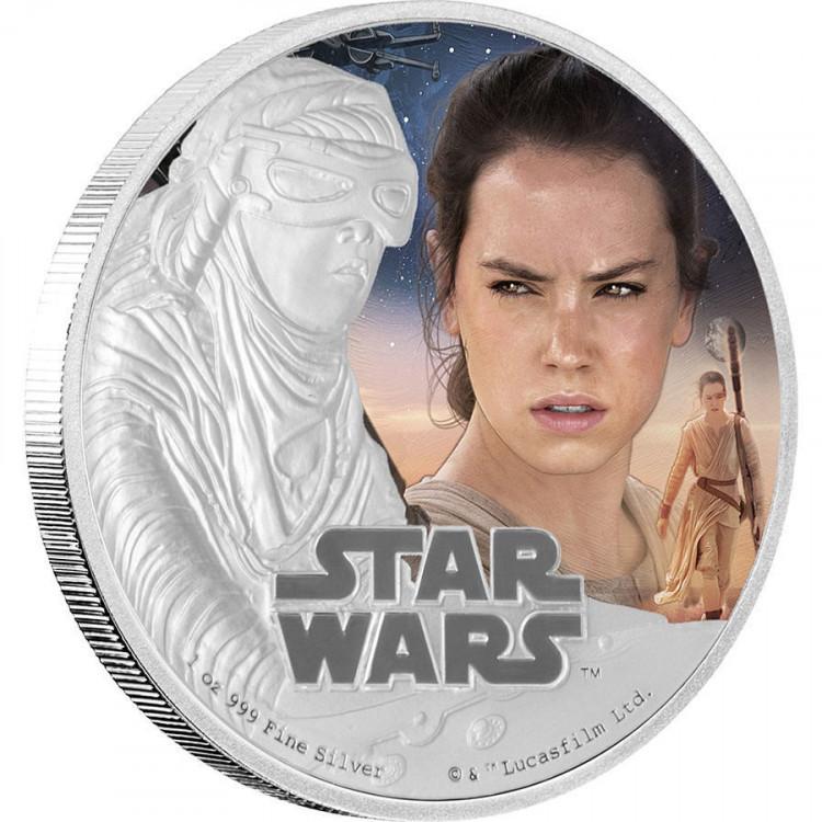2 доллара 2016 Звездные войны. Рей. Пробуждение силы.  О. Ниуэ Серебро