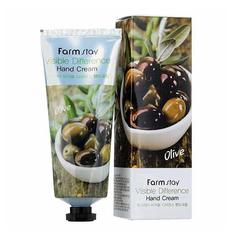 Питательный крем для рук с экстрактом оливы FarmStay Visible Difference Hand Cream Olive 100 мл