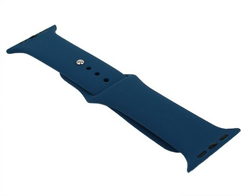 Ремешок для Apple Watch 42mm/44mm силиконовый | голубой океан