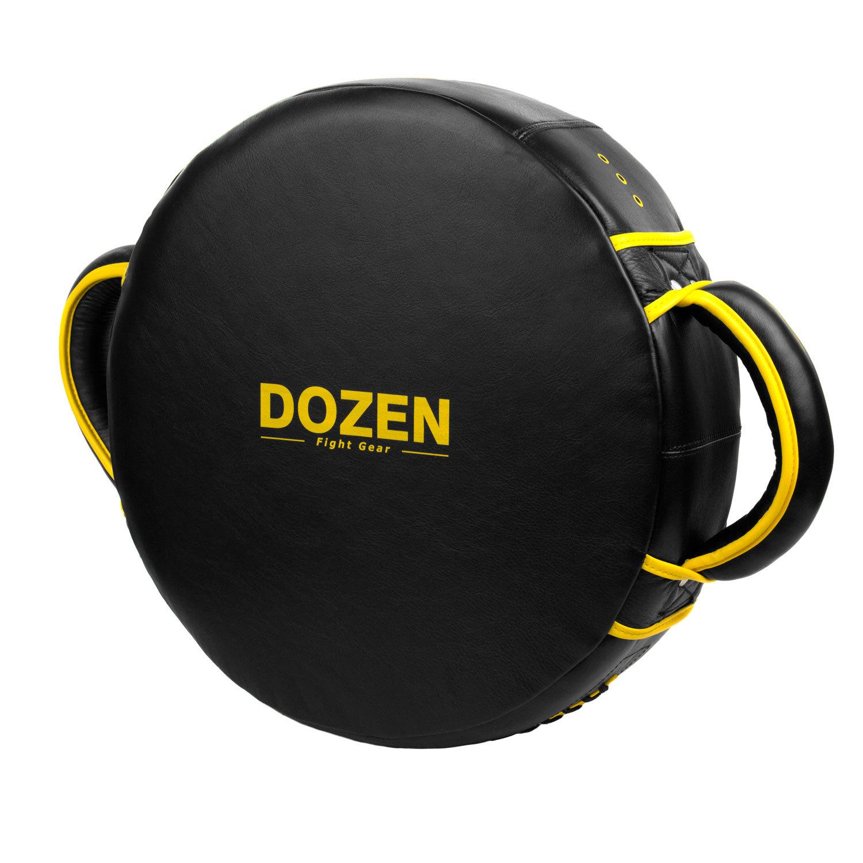 Макивара круглая Dozen Monochrome черно-желтая обратный вид