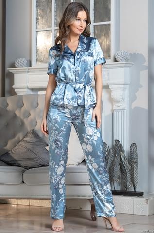 Комплект брючный 3 предмета Mia-Amore PARIS PIONS ПАРИЖ ПИОН 8994 голубой