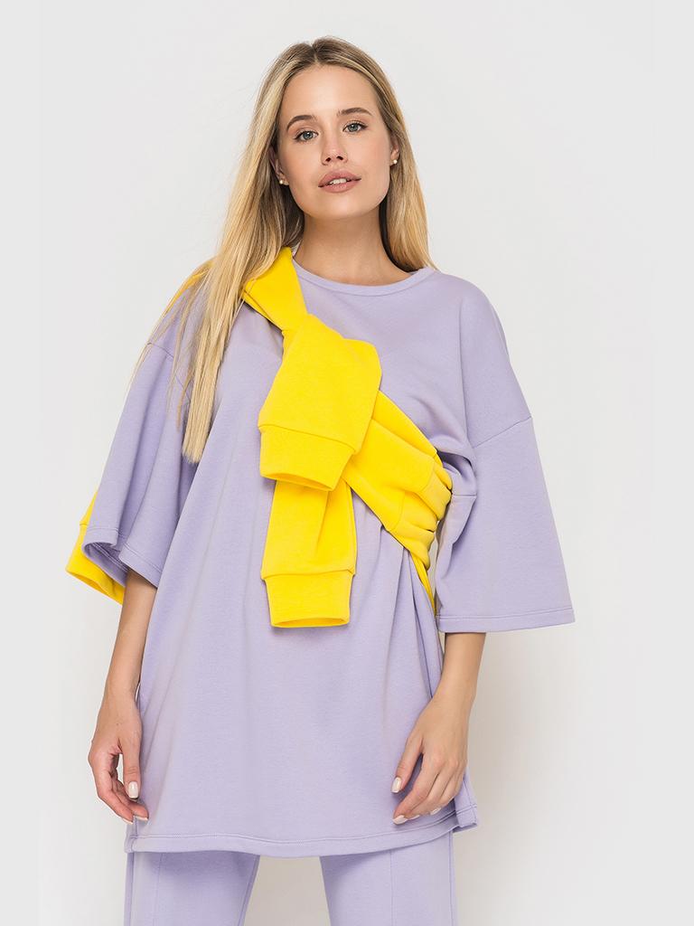 Костюм (брюки и футболка) лиловый YOS от украинского бренда Your Own Style