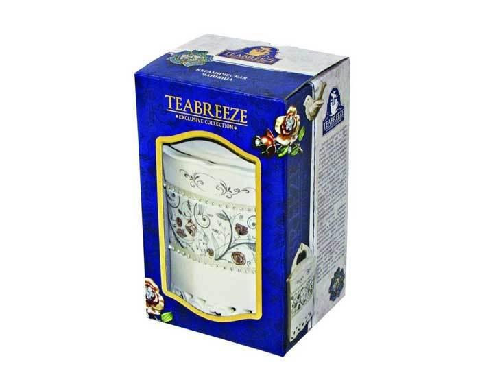 Чай Японская липа листовой Teabreeze Керамическая чайница