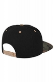Бейсболка черная камуфляжная