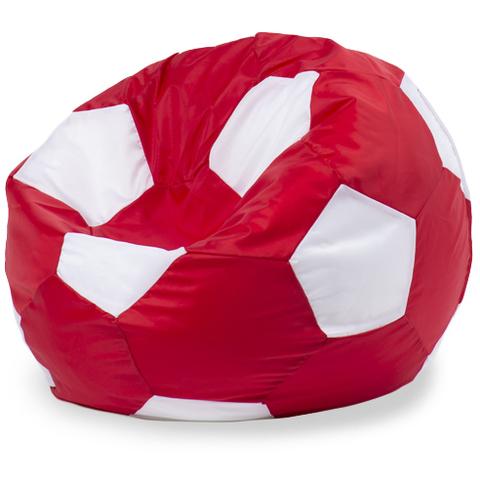 Кресло-мешок мяч  L, Оксфорд Красный и белый