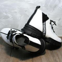 Ботинки на шнуровке женские Ripka 146White