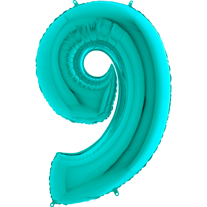 Цифра бирюзовая Тиффани 9
