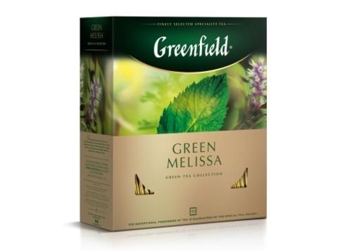 Чай зеленый Гринфилд Green Melissa в пакетиках (100 шт)