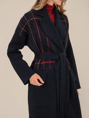 Женский кардиган темно-синего цвета из шерсти и кашемира - фото 5