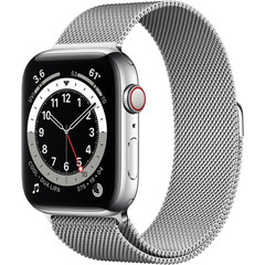 Часы Apple Watch Series 6 GPS + Cellular 44mm Stainless Steel Case with Milanese Loop (Silver) (M07M3,M09E3)