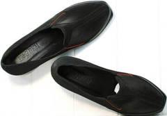 Женские черные туфли натуральная кожа осень весна H&G BEM 167 10B-Black.