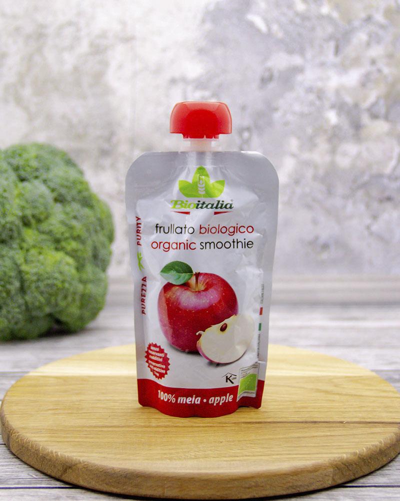 Пюре из яблока-смузи Bioitalia 120 г.