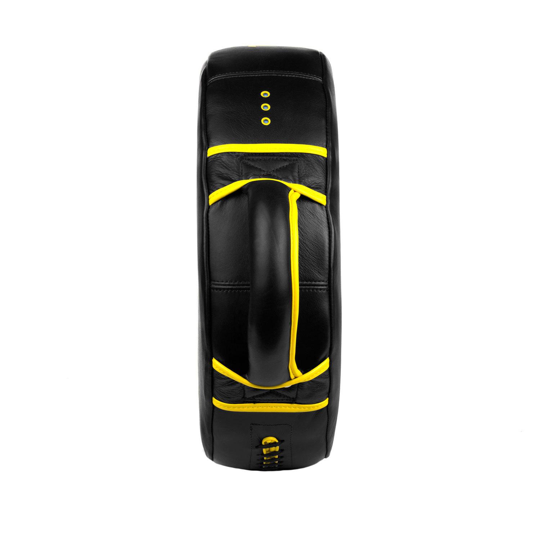 Макивара круглая Dozen Monochrome черно-желтая боковой вид