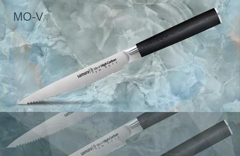 SM-0071/16 Нож кухонный стальной для томатов Samura MO-V