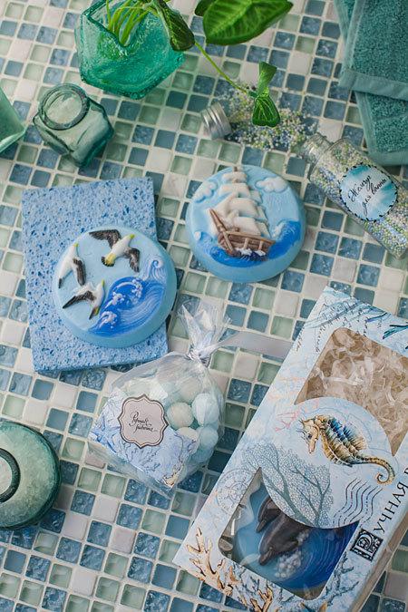 Этиклейка на упаковку для мыла Море-2
