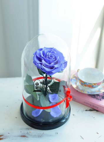 Роза Premium ХИТ Оптом Выс*Диам*Бутон (27*15*11см)Цвет сиреневая
