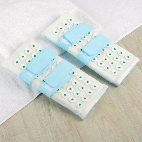 Ипликатор-коврик для ног, Массажные тапочки, 14*32 см, пара
